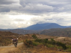 The red moonscape provided some fine riding to raquira, near Villa de Leyva.